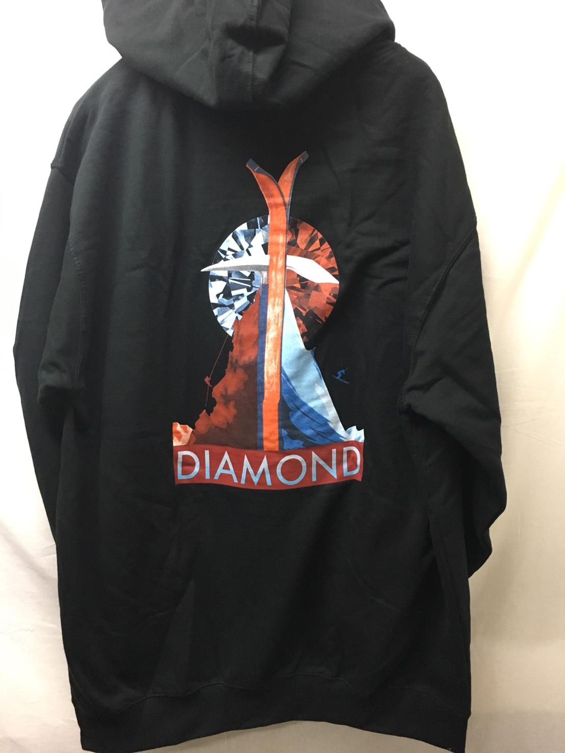 Diamond Supply, Diamond Peak Pullover Hoodie - Black
