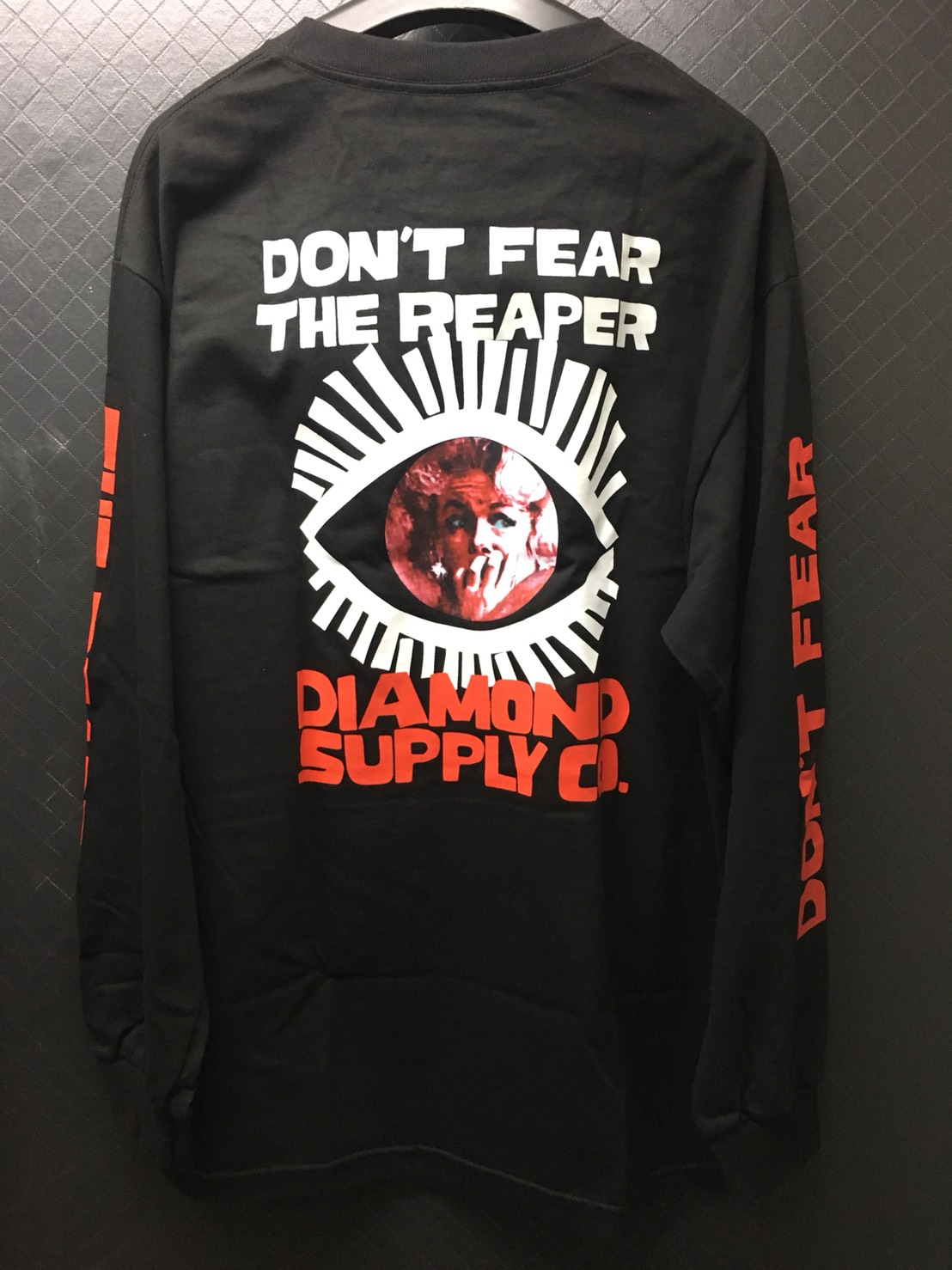 Diamond Supply, Reaper L/S Shirt - Black