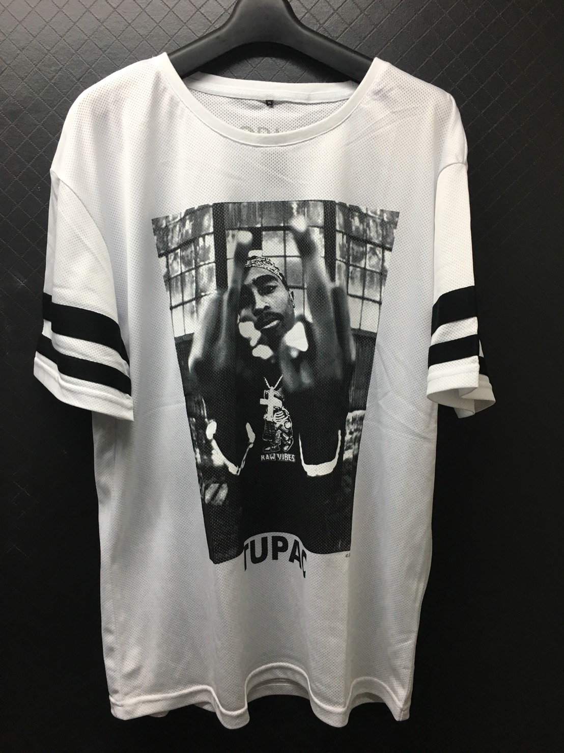 MR. TEE LADIES 2PAC STRIPES TEE WHITE