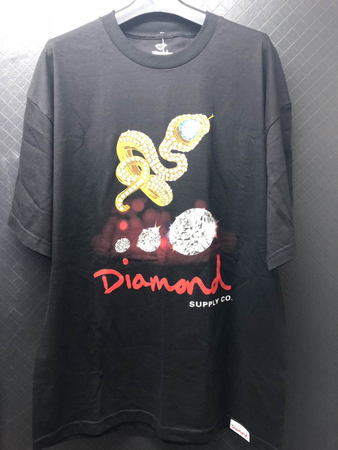 DIAMOND SUPPLY CO. SNAKE BLACK T-SHIRT