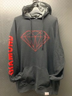 37f7a418d Diamond Supply Co. Brilliant Black & Red Hoodie | steelo